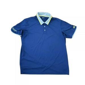 Adidas Blue ClimaCool Golf Polo Size Extra Large w